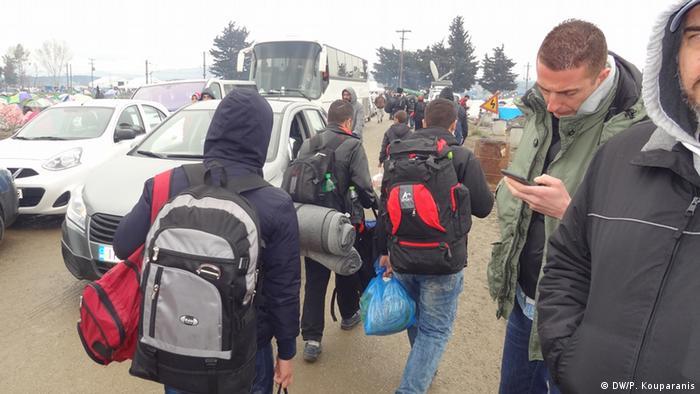 Griechenland Neuankommende Flüchtlinge in Idomeni