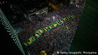 Protesto contra Dilma em março de 2106