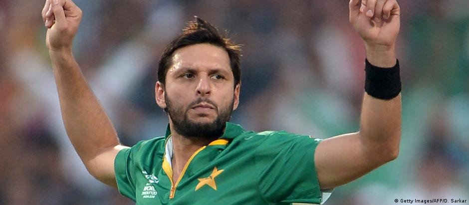 Indien World T20 cricket tournament - Team Pakistan - Shahid Afridi (Getty Images/AFP/D. Sarkar)