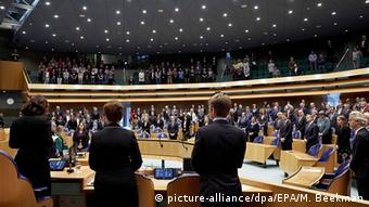 A parliament sitting in The Hague, the Netherlands, following the November Paris attacks of 2015.