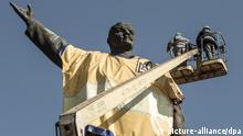 Zaporozhye Ukraine Lenin Statue Demontage