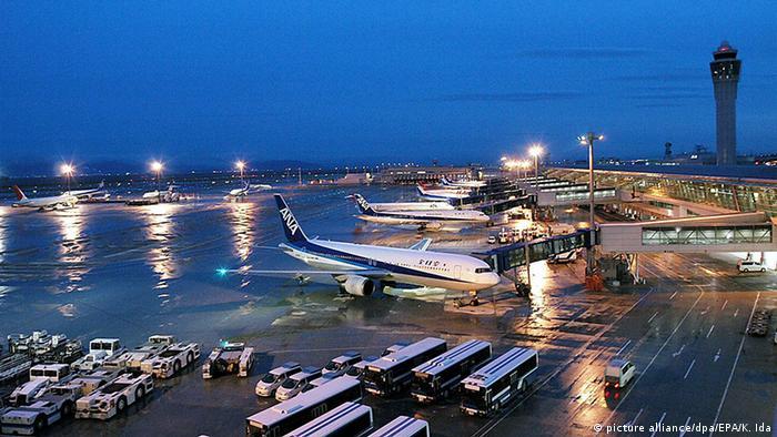 Vista externa do aeroporto de Nagoia