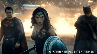 Wonder Woman in the movie Batman v Superman