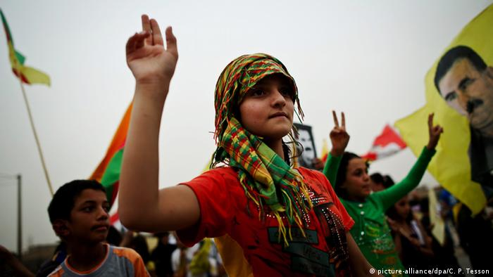 PYD supporters demonstrate for greater autonomy