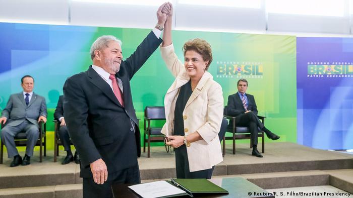 Dilma e Lula em 2016