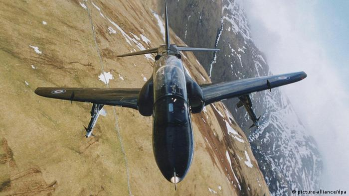 Saudi Arabien Militär Jet Kampfjet RAF Hawk jet (picture-alliance/dpa)