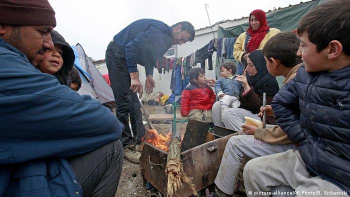 Біженці поблизу грецького селища Ідомені