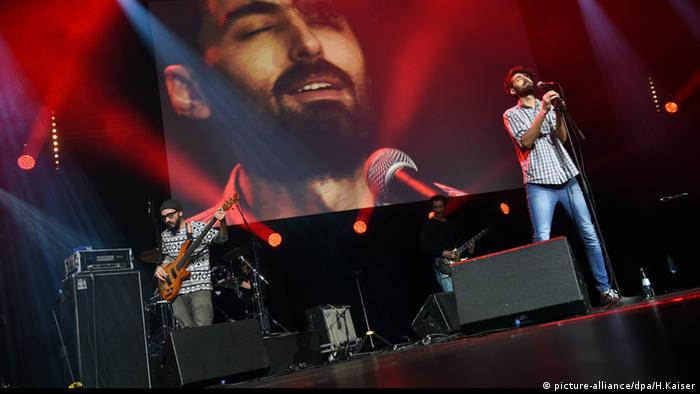 Syrian band Khebez Dawle at Lit.Cologne refugee benefit, Copyright: picture-alliance/dpa/H.Kaiser