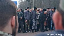 Ukraine Jahotyn Demonstration gegen ausländische Flüchtlinge