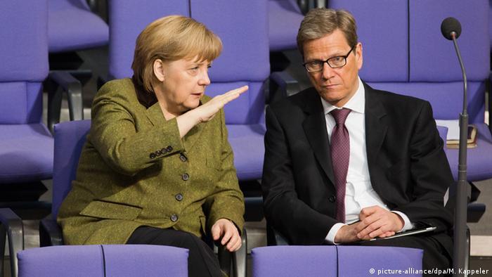 Guido Westerwelle i Angela Merkel