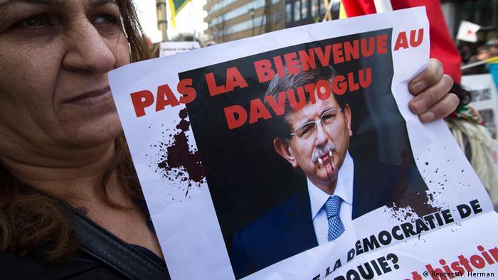 Belgien, kurdische Demonstrationen beim EU-Gipfel in Brüssel