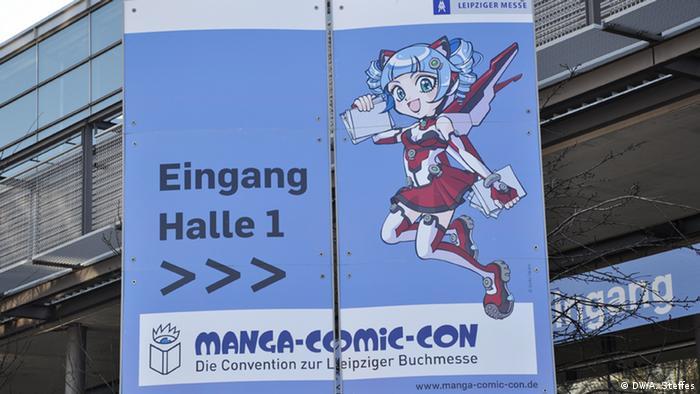 Plakat der Comic-Con bei der Leipzig Buchmesse