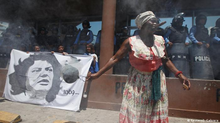 Honduras Tegucigalpa Demonstration wegen Tod von Berta Caceres