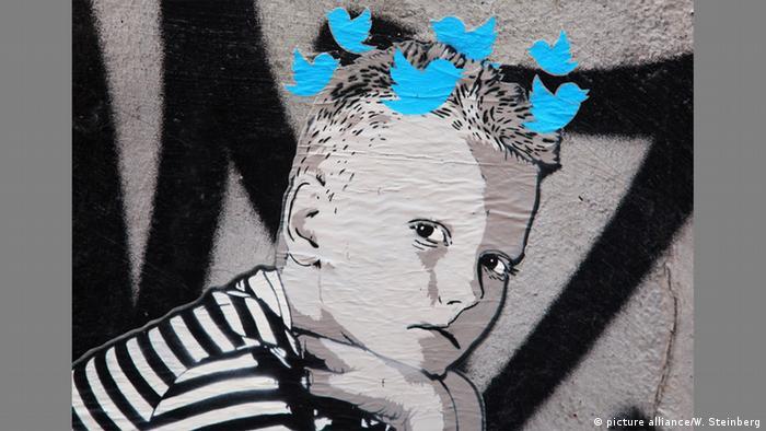 Портрет юноши с символамиTwitter