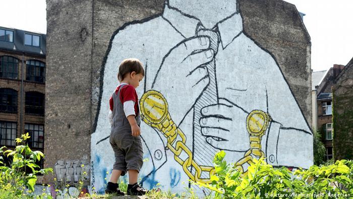 Граффити Мужчина в наручниках