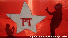 Brasilien Demonstration pro Regierung Dilma Rousseff