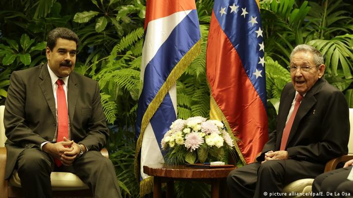 Venezuela's Nicolas Maduro and Cuba's Raul Castro in 2016
