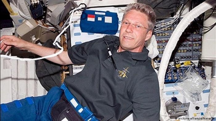 Astronaut Thomas Reiter in der ISS