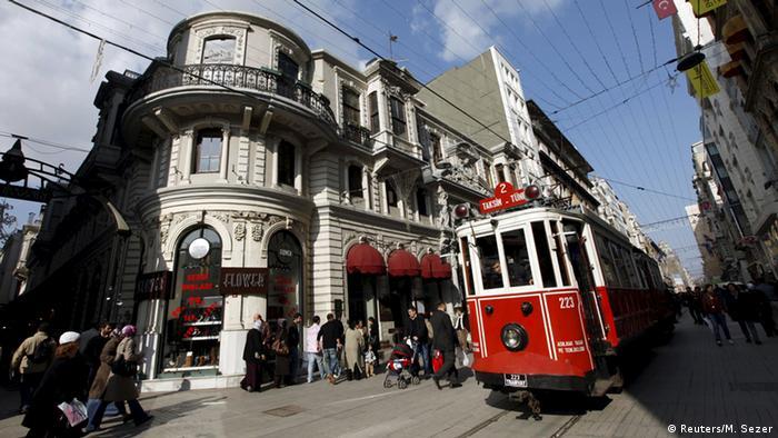 Türkei Istiklal-Straße in Istanbul