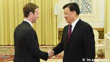 China Mark Zuckerburg trifft Lui Yunshan in Beijing