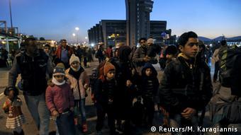 Griechenland Flüchtlinge Fähre Nacht