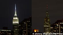 USA Earth Hour New York Empire State Building