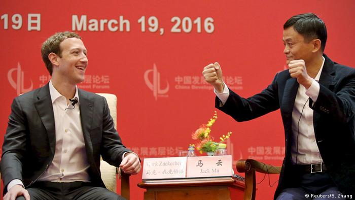 China Peking Treffen Zuckerberg Jack Ma Facebook Alibaba (Reuters/S. Zhang)