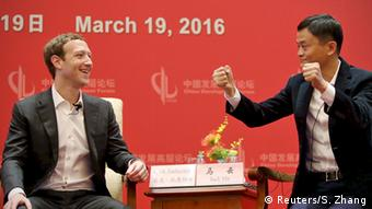 China Peking Treffen Zuckerberg Jack Ma Facebook Alibaba