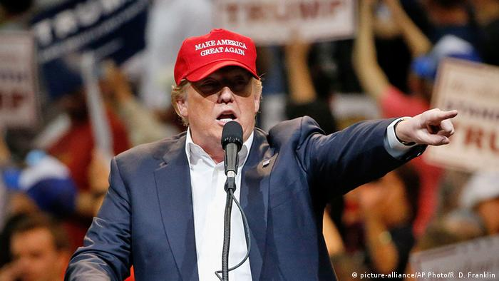 Donald Trump durante campanha eleitoral