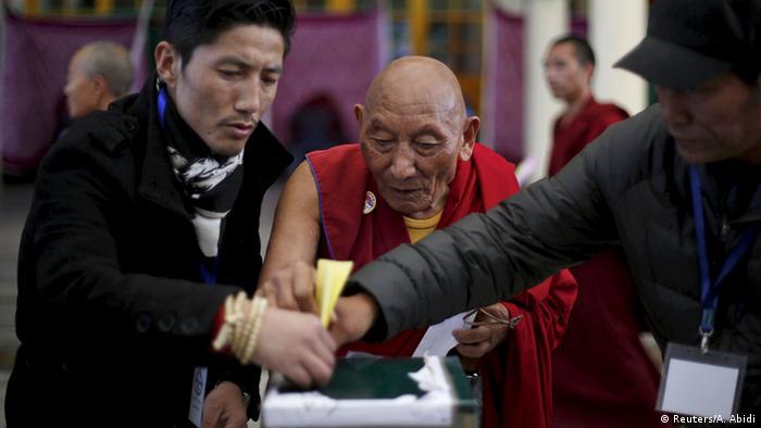 Indien Dharamsala Wahlen Exil-Tibeter Mönch