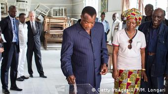 Kongo Brazzaville Präsidentschaftswahlen Wahllokal Denis Sassou Nguesso