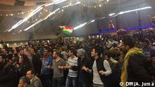 Karnaval von Flüchtlinge, Tanzen, Musikhören, Essen. Die Flüchtlinge möchten Ihre Tradition zeigen Lage in Köln- Alt feuerwache. Copywrite: DW - arabisch - Alla Juma