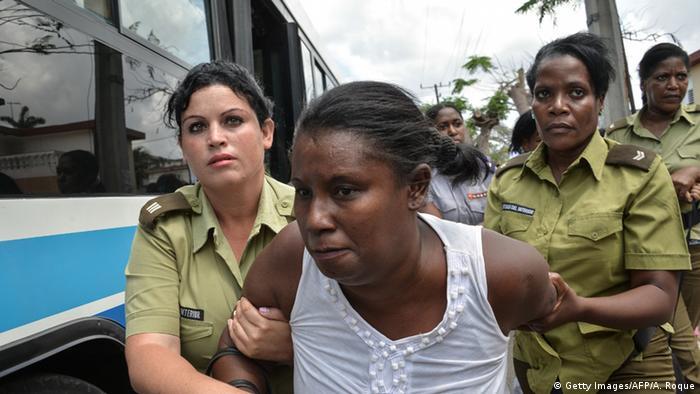 Затримання дисидентів, які вийшли на демонстрацію в день прибуття президента США