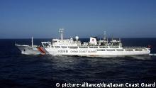 Ostchinesisches Meer China Küstenwachenschiff 2166 bei Senkaku / Diaoyu