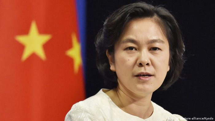 China Peking Hua Chunying , a Chinese Foreign Ministry spokeswoman