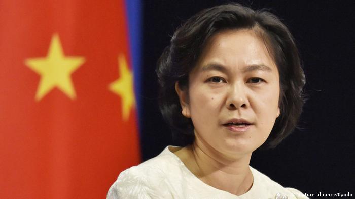China Peking Hua Chunying , a Chinese Foreign Ministry spokeswoman