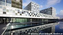 23 November 2015. (c) picture-alliance/dpa/M. Beekman epaselect epa05038556 Exterior view on the new home of the International Criminal Court (ICC) in The Hague, The Netherlands, 23 November 2015. The court, governed by the Rome Statute, is the first permanent, treaty based, international criminal court established to help end impunity for the perpetrators of the most serious crimes of concern to the international community. EPA/MARTIJN BEEKMAN