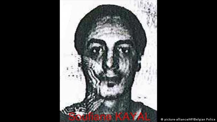 Handout photo released by the Belgian Police of a fake identity card of one of two suspects in the Paris attacks probe