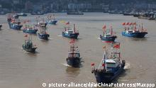 China Fischerboote in Ningbo