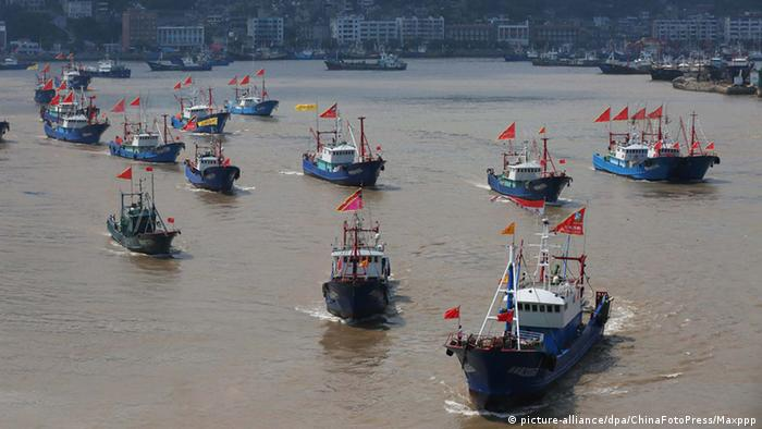 China Fischerboote in Ningbo (picture-alliance/dpa/ChinaFotoPress/Maxppp)