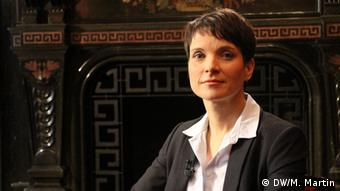 Leipzig Frauke Petry bei Conflict Zone (DW/M. Martin)