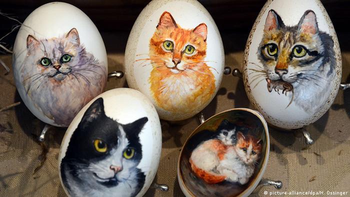 Яйца с изображением домашних животных