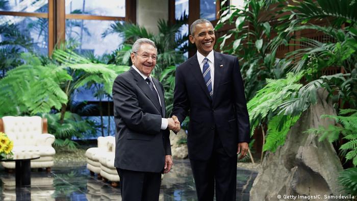 Kuba Havana President Obama trifft Kubanischen Präsidenten Raul Castro