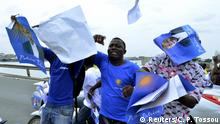Westafrika Benin Unterstützer des Präsidentschaftskandidat Patrice Talon