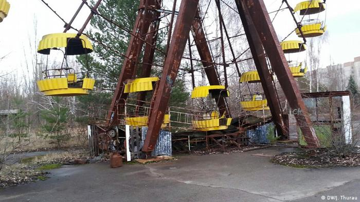 Ukraine Riesenrad in Tschernobyl