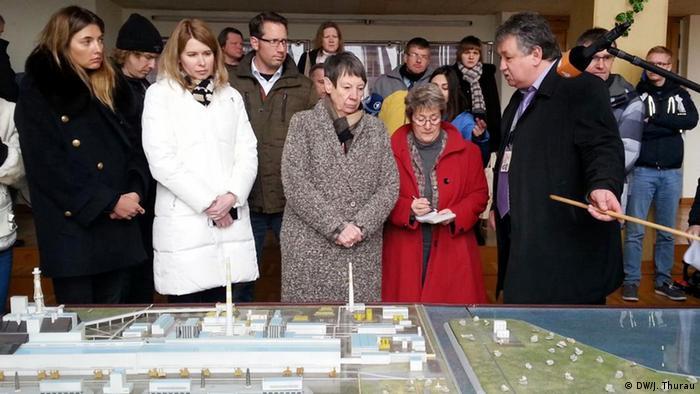 Барбара Хендрикс с делегацией на Чернобыльской АЭС