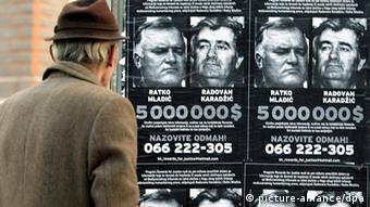Police posted photos of Karadzic and Mladic across Serbia
