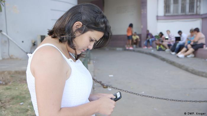 Kuba Havana Elaine Día (DW/F. Kroger)
