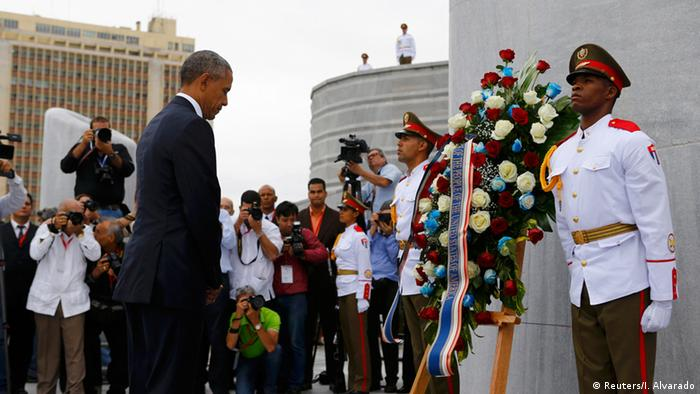 Barack Obama USA in Kuba Havana