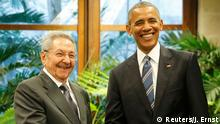 Barack Obama USA in Kuba Havana Raul Castro